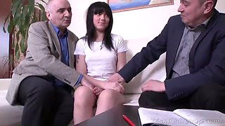 video titel: two old dicks for lazy student || porn tgas: babe,dick,double,granny,jizzbunker