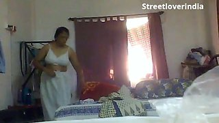 video titel: Sexy indian bengali aunt mili captured changing in bedroom || porn tgas: aunty,bed,big ass,big tits,jizzbunker
