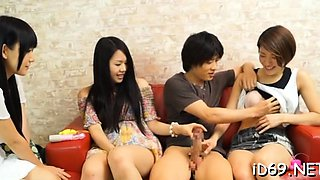 video titel: One very teacher is having foursome with beauty students || porn tgas: 4some,amateur,asian,beautiful,nuvid