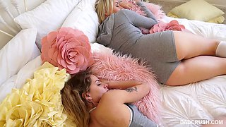 video titel: my daddy is insatiable! || porn tgas: 3some,babe,blonde,blowjob,flyflv