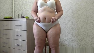 video titel: urinating young beautiful bbw in white panties with hairy pussy || porn tgas: amateur,bbw,beautiful,big ass,