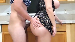 video titel: Big Ass Stepmon Fucking With Her Stepson In Kitchen || porn tgas: ass,bbw,big ass,big cock,xhamster