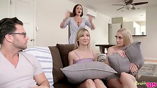 video titel: My friends and i flash our tits to my brother || porn tgas: big ass,blowjob,brother,flashing,xxxdan