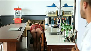 video titel: Brunette babe gets drilled well in the kitchen by her horny fellow || porn tgas: brunette,drilling,horny,kitchen,xcafe