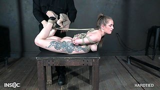 video titel: Blue eyed blonde beauty Cora Moth tied up and abused hardcore || porn tgas: abuse,beauty,blonde,bondage,anyporn