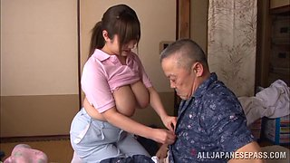 video titel: Busty Japanese amateur gets her wet cunt smashed in blazing old vs young action || porn tgas: action,amateur,asian,big tits,bravotube
