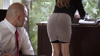video titel: Submissive Secretary Dominated by her Boss || porn tgas: anal,babe,boss,brunette,iceporn