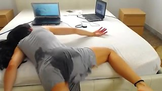 video titel: She ass fucked herself to bed    porn tgas: anal,ass,ass fucking,bed,