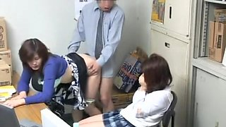 video titel: Voyeur video with naughty blowjob and japanese drilling || porn tgas: asian,blowjob,drilling,hidden,upornia