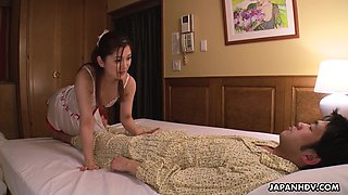 video titel: Lovely and naughty Japanese maid Anna Kimijima gives a sensual blowjob || porn tgas: blowjob,japanese,lovely,maid,xcafe
