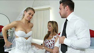 video titel: Big boobed bride and her sexy kooky please kinky groom with steamy BJ || porn tgas: 3some,beautiful,big tits,blonde,anysex