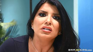 video titel: sexy secretary Romi Rain adores hard fuck with her colleague in her office || porn tgas: big tits,blowjob,brunette,couple,anyporn
