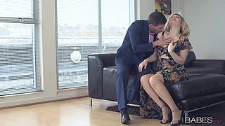 video titel: Blonde in a pretty dress gets naked for erotic fucking || porn tgas: ass,big tits,blonde,blowjob,anyporn