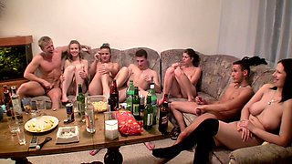 video titel: Dana Janet Haven Kristine Crystalis Sonja in video of a college orgy with lots of hot chicks || porn tgas: blonde,brunette,chick,college,