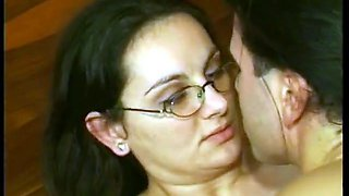 video titel: HAIRY GERMAN MOM IN GLASSES DP JOINED || porn tgas: german,glasses,hairy,xhamster