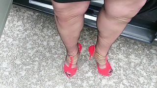 video titel: Outside in nylons and high heels || porn tgas: heels,high definition,high heels,lingerie,xhamster
