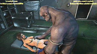 video titel: Lara Croft fucked roughly by Coach and a monster 3D Animatio || porn tgas: 3d,couch,fuck,monster cock,xhamster
