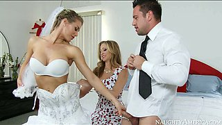 video titel: Big boobed bride and her sexy kooky please kinky groom with steamy BJ    porn tgas: bride,kinky,sexy,anysex