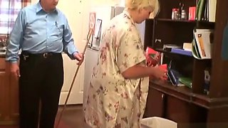 video titel: Old Master teaching his thick blonde servant to do the housework correctly || porn tgas: bbw,blonde,british,fetish,hotmovs