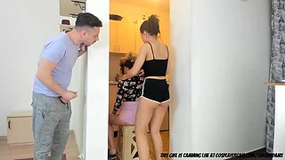 video titel: Watching My Step Sister Fuck Her Friend || porn tgas: 3some,amateur,friend,orgy,gotporn