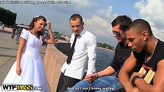 video titel: Bride sharing with best friends || porn tgas: 3some,bride,friend,group,