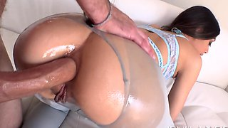 video titel: Latina in ripped pantyhose fucked in oiled ass from behind || porn tgas: anal,ass,ass fucking,fuck,hdtube