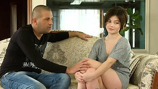 video titel: Cute short haired virgin Marfa Piroshka is shy on casting || porn tgas: casting,cute,first time,high definition,