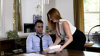 video titel: Babes Office Obsession Naked Lunch starri || porn tgas: babe,big tits,blowjob,brunette,nuvid