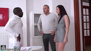 video titel: Kinky black doctor fucks whore wife Violetta C in the presence of her husband    porn tgas: 3some,anal,black,blowjob,anysex