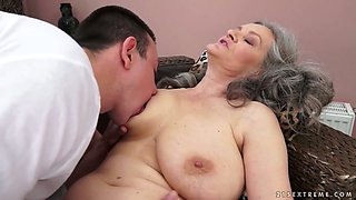 video titel: Sex starved granny with big natural tits gives hot blowjob to her lover || porn tgas: ass,bbw,big ass,big tits,anysex