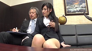 video titel: Seino just loves when her boss decides to penetrate her on the couch || porn tgas: asian,boss,couch,couple,bravotube