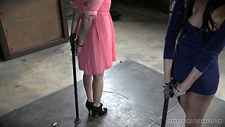 video titel: Chick with small tits tied up during a nice BDSM game || porn tgas: bdsm,bondage,chick,fetish,anyporn