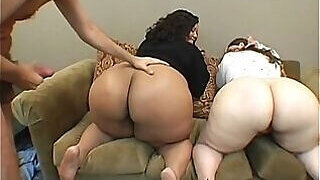 video titel: Two big booty bitches lined up for hardcore sex || porn tgas: 3some,bbw,big ass,blowjob,PornoSex