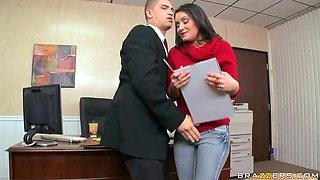 video titel: Bruce Venture Gets The Job By Fucking Her Future Boss At Her Interview || porn tgas: ass,big tits,boss,brunette,anyporn