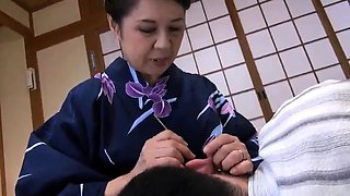video titel: Lovely Japanese granny fucked and creampied by a young guy    porn tgas: asian,creampie,fuck,gay,