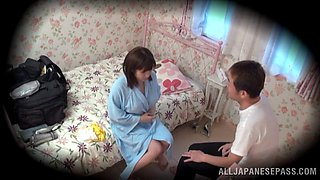 video titel: Spy cam in the bedroom catches Yuumi Nagasaku getting fucked || porn tgas: amateur,bed,blowjob,couple,bravoteens