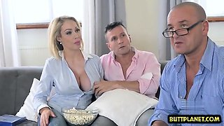 video titel: Big tits wife deepthroat and cumshot || porn tgas: 3some,big tits,blonde,cumshots,drtuber