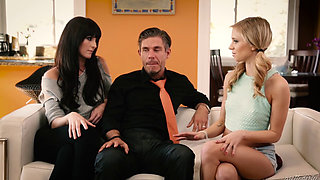 video titel: The Babysitter || porn tgas: 3some,babysitter,beautiful,blowjob,pornone_com