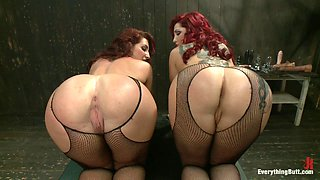 video titel: Two redheads dominated by a brunette in butt bondage scene || porn tgas: ass,bdsm,big ass,bondage,sex3