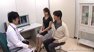 video titel: A pretty Japanese girl lets a doctor cum in her mouth || porn tgas: cum,doctor,japanese,mouth,anyporn