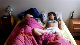 video titel: Cousin sister sharing single bed hot fucking || porn tgas: amateur,bed,fuck,sharing,upornia