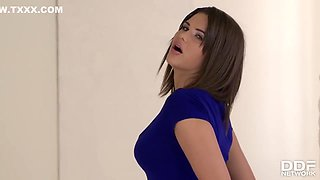 video titel: Erotic babe in blue high heels, Cinthia Doll is playing like a real slut with her hard sex toy || porn tgas: babe,doll,erotica,high heels,hotmovs