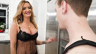 video titel: MILF suits her thirst for cock with the young step sons penis || porn tgas: beautiful,big tits,blonde,blowjob,xbabe