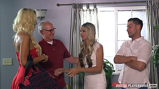 video titel: Cougars turn on the dude witha steamy blowjob ahead of a thorough FFM || porn tgas: 3some,ass,big tits,blonde,bravoteens