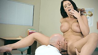video titel: Doctor Adventures My Husband Is || porn tgas: big tits,blowjob,brunette,doctor,nuvid