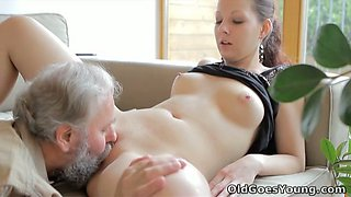 video titel: Beautiful Ilona gets her pussy pounded bad in arousing young and old fuck video || porn tgas: beautiful,fuck,old and young,pounding,anysex