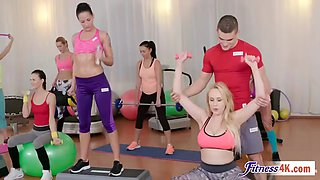 video titel: angel wicky and katarina muti getting fucked in threesome after workout || porn tgas: 3some,angel,big tits,blowjob,jizzbunker