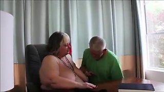 video titel: Big Sexy Grandma In The Office || porn tgas: big tits,grandma,granny,mature,
