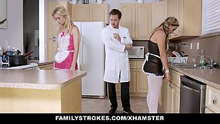 video titel: familystrokes hot sister and mom tricked and fucked by ste    porn tgas: 3some,blonde,fuck,milf,xxxdan