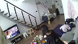 video titel: Hackers use the camera to remote monitoring of a lovers home life. || porn tgas: cams,chinese,couple,homemade,